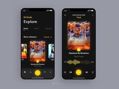 Melo Music App UI Concept daily ui songs dark mode adobe xd user interface design screen design music app ui music app app design uxdesign ui design uiux ui