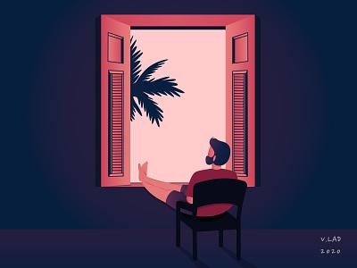 An Evening Chill vector illustration adobe illustrator adobe photoshop flat design digital art illustration graphic design art vector design