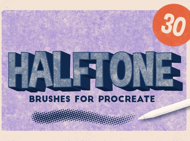 Procreate 5: Halftone Brushes