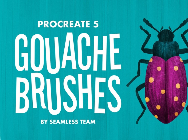 Procreate 5: Gouache Brushes