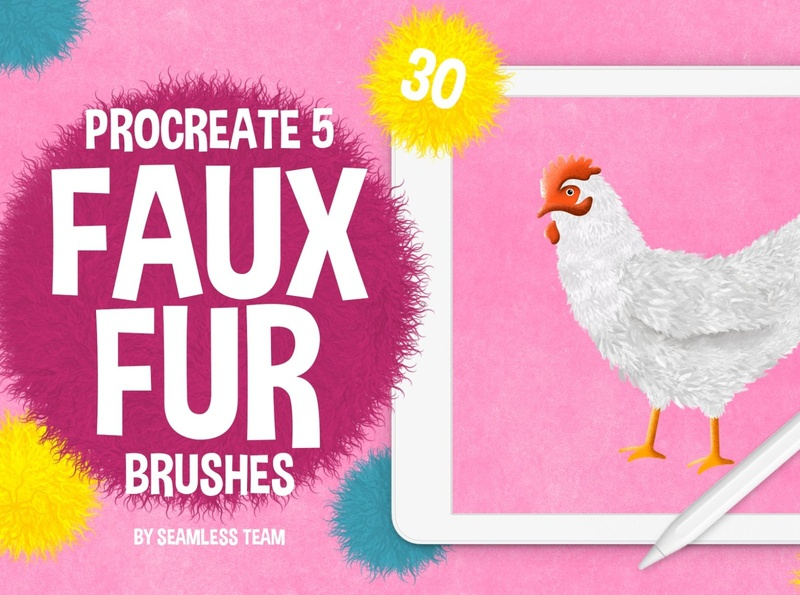 Procreate 5: Faux Fur Brushes