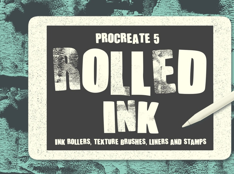 Procreate 5 Brushes: ROLLED INK