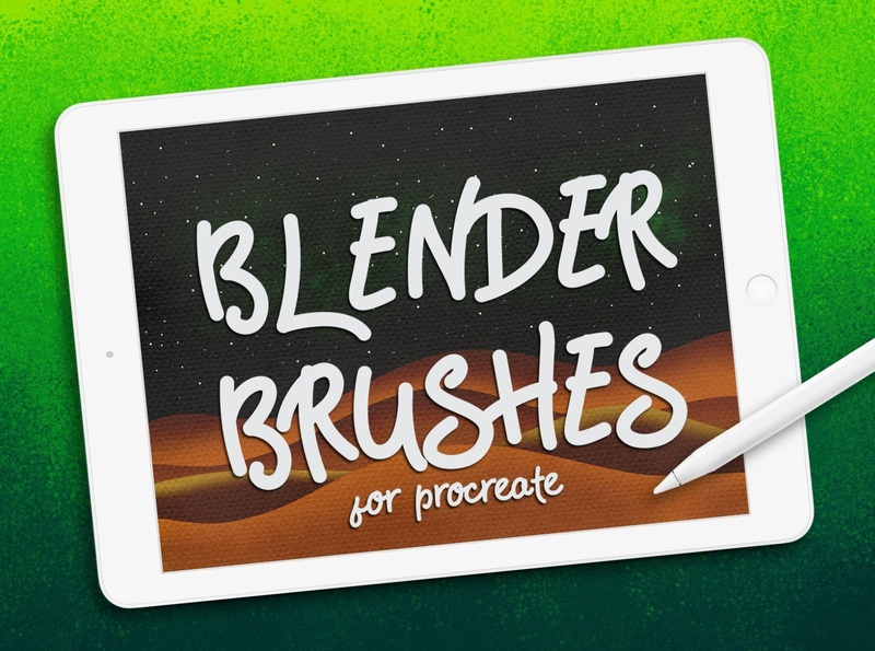 Procreate Brushes: BLENDER BRUSHES