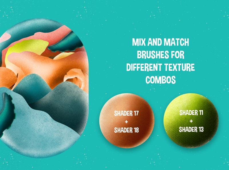Procreate 5: Super Smooth Shader Brushes
