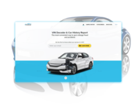 Car History Report Landing Page