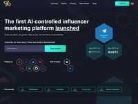 Landing page for a AI project