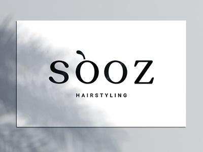 SooZ Hairstyling Logo Design vector hair salon minimal branding logo design