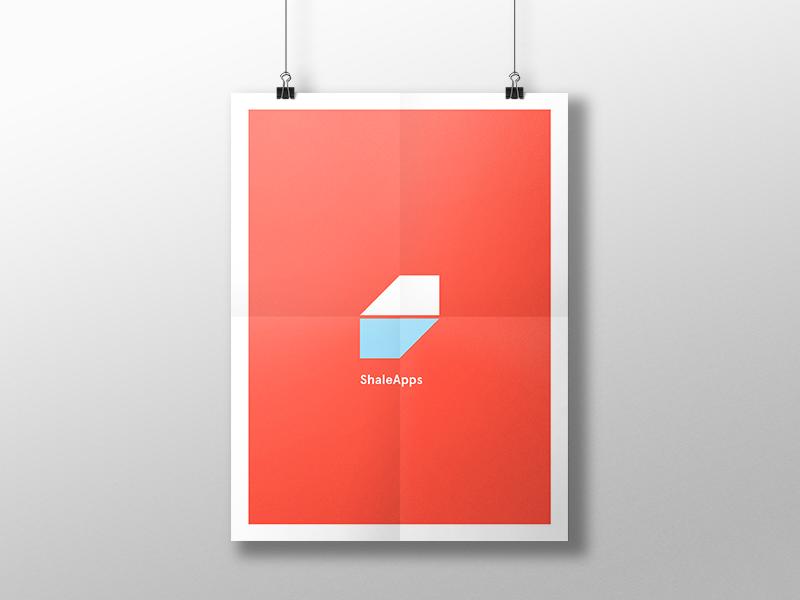 Branding Poster geometric blue red poster branding