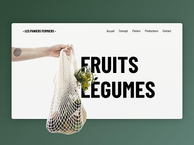 LES PANIERS FERMIERS webdevelopment webdesign userinterface interface html css