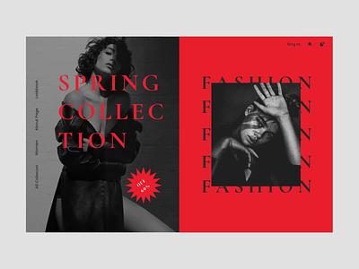 Fashion Landing UI buy shopping landing fashion typography web creative ui ux minimal design