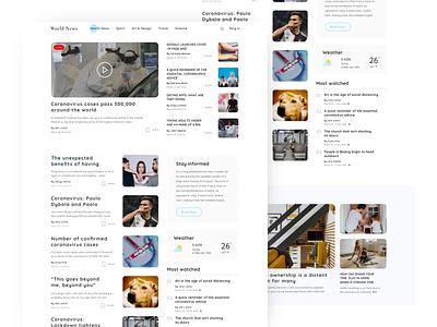 Blog Web UI blogger web article blog creative coloful ui ux minimal design
