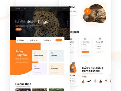Zootopia Web UI brand life bird ticket kid animal zoo zootopia typography website web coloful creative ux minimal design