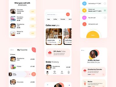 Sweet App UI tasty coloful location buy sweet food app creative ux ui minimal design