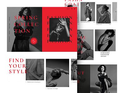 Fashion Web UI spring collection style layout modern clothe buy fashion web beautiful coloful creative ui ux minimal design