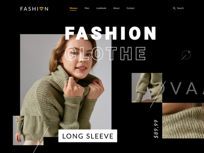 Fashion Web UI clothe ecommerce shopping fashion buy web coloful creative ui ux minimal design