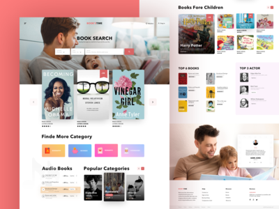 Landing Page For Books Store