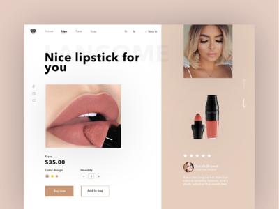 Lipstick Websait UI