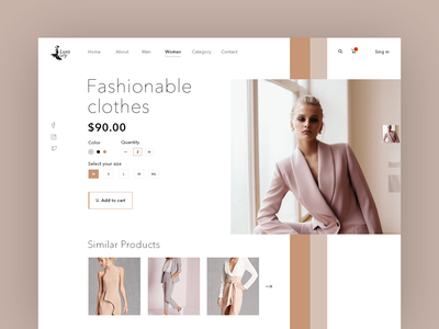 Shopping Product Page UI fashion app clothes fashion logo creative coloful buy beautiful shopping website web ui ux typography minimal design