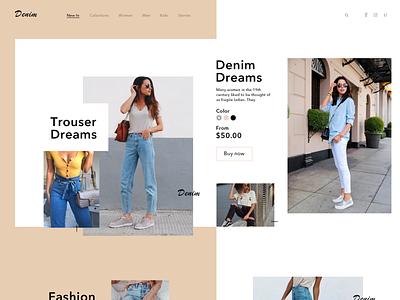Shop Web Ui men women jeans trousers clothes fashion illustration ecommerce creative coloful buy beautiful shopping website web ui ux typography minimal design