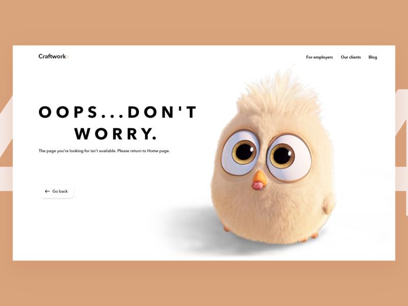 Web Error UI cute error ecommerce creative coloful beautiful website web ui ux minimal design