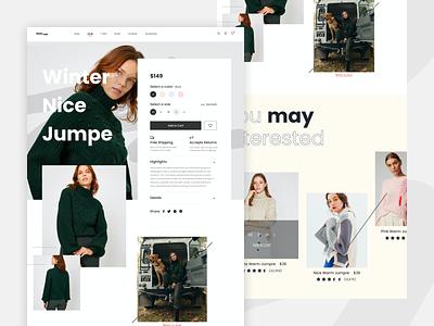Ecommerce Web UI minimal shopping logo ecommerce fashion typography website web beautiful creative coloful ux ui design