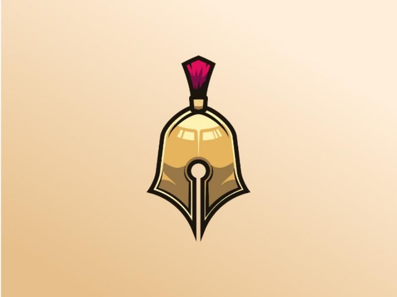 Design Warrior Logo logo gram logo vector illustration adobe pen sparta design logo design logo inspiration logo