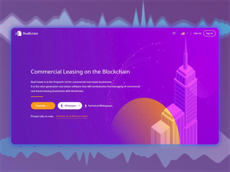 Ico landing page web design ui flat
