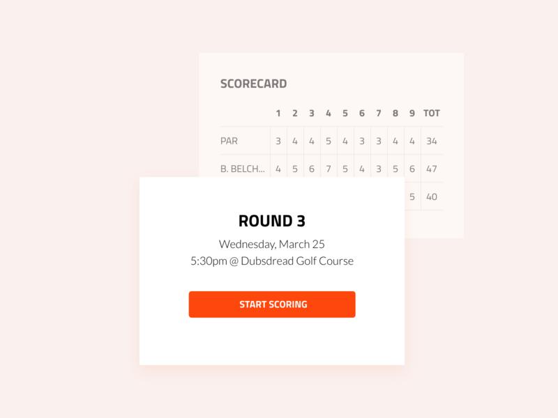 Spark Golf - Scorecard