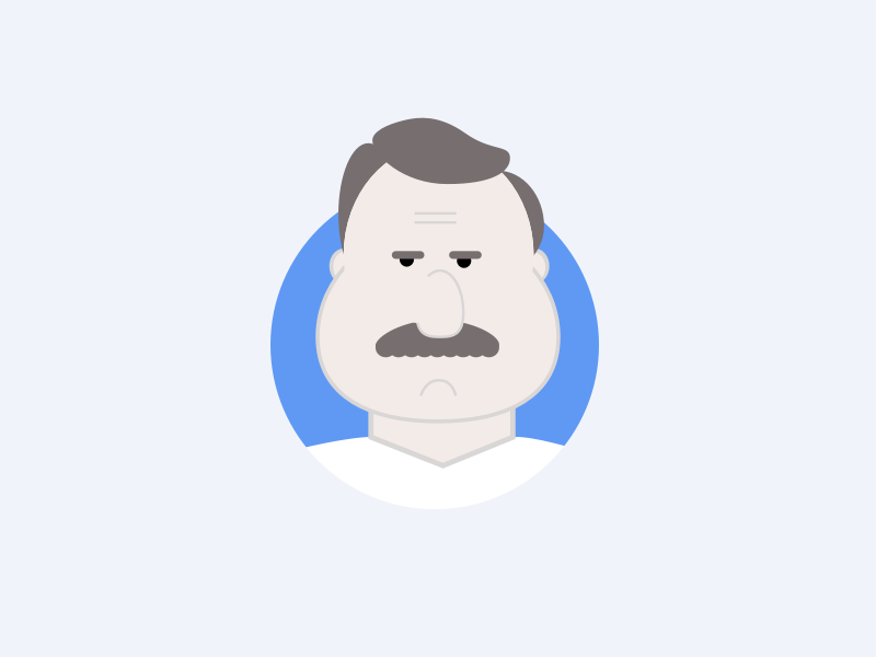 This Guy vector icon illustration mustache graphic man