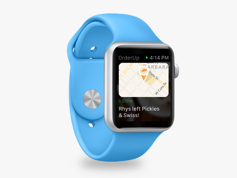 OrderUp Apple Watch App watch ui food tracking delivery apple watch