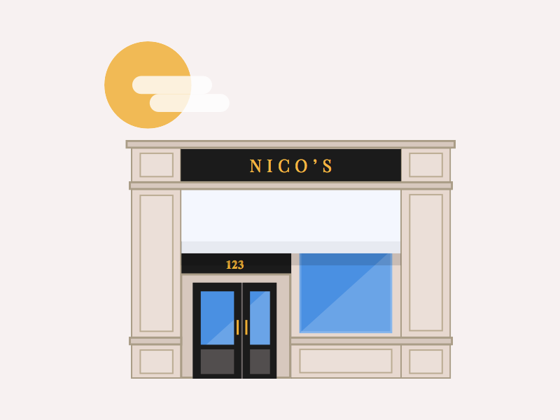 Nico's nicos onboarding restaurant icon illustration