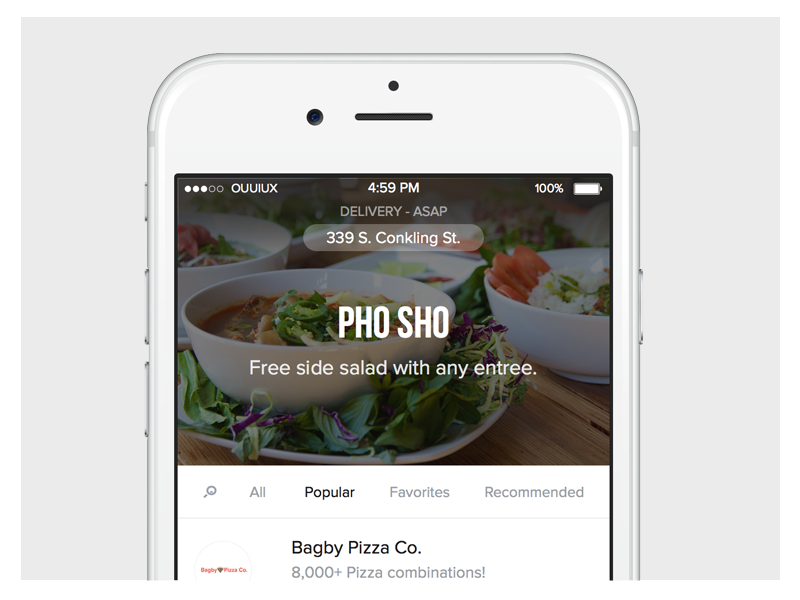 OrderUp Discovery discovery food ux ui layout iphone ios
