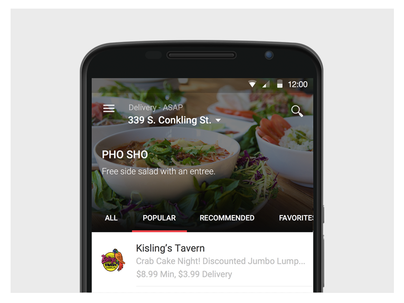 OrderUp Android material design android food discovery