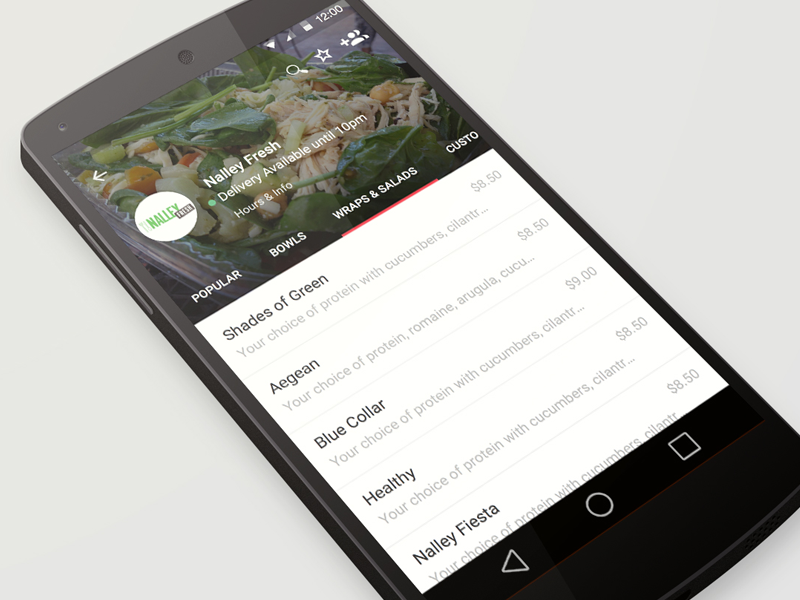 Orderup menu android