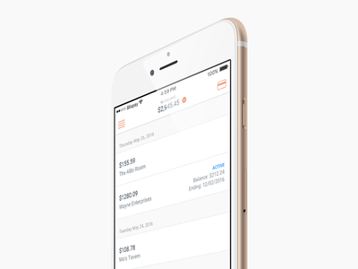 Blispay iOS - Recent Activity payments feed activity iphone ios ux ui