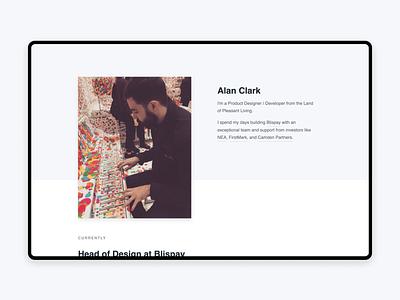 Folio layout homepage portfolio website