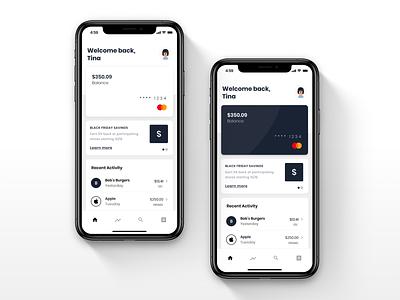 Virtual Card Variations fintech virtual card credit card ui
