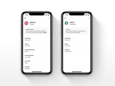 Transactions fintech app ios fintech ui