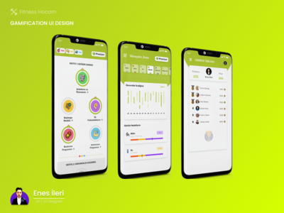 Gamification UI Design ranking coin leaderboard graphic game ui gamification mobile ui app design ui