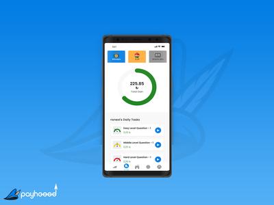 Payhoood App Design gain winner task trivia game payment pay mobile ui app design ui