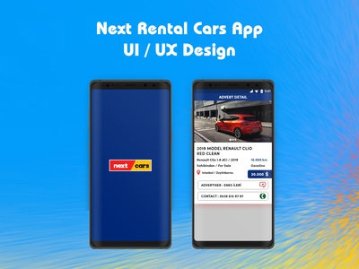 Rental Cars App Design