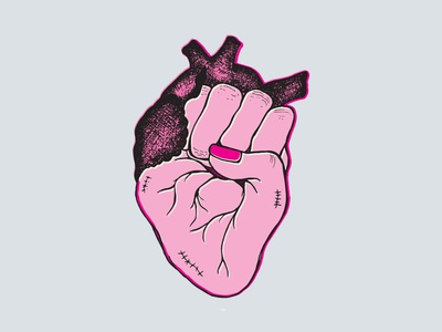 Heart + Fist Drawing - Poster Design