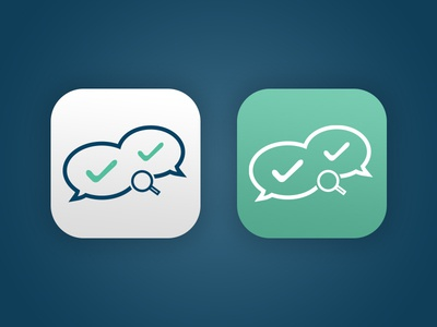 Communication - Search - Connection Icon Design