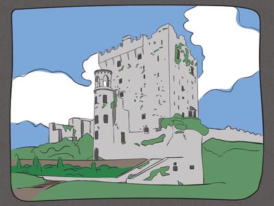 Blarney Castle Illustration