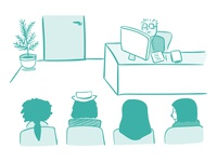 Waiting Room - Office - Illustration