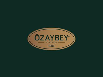 Özaybey Restaurant Logo Design profesyonel logo tasarımı profesyonel logo tasarım logo tasarımı logo tasarım rebrand logo animation illustration design system branding agency branding brand logotype logos type
