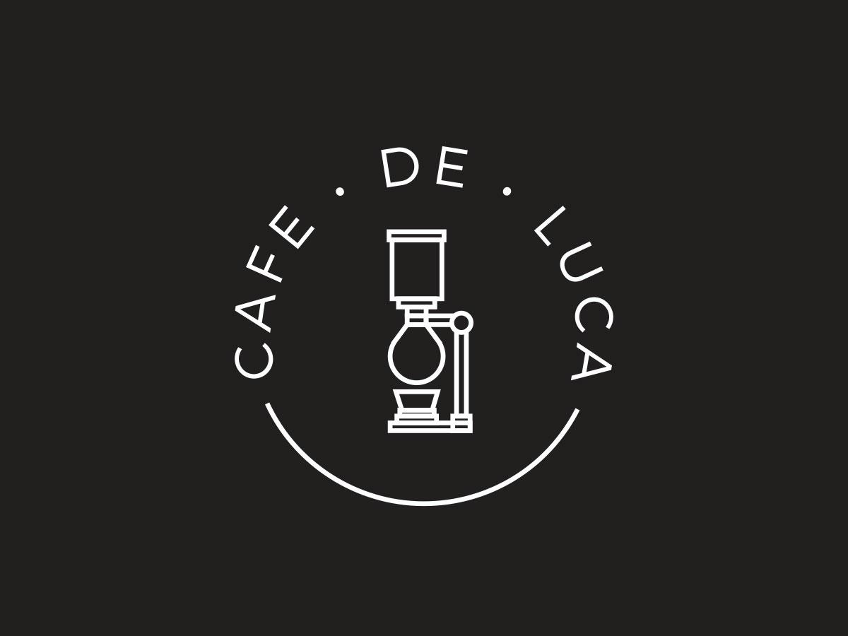 Cafe De Luca / Logo Design siphon coffee smoke food cafe logotype logo design logo icon brand