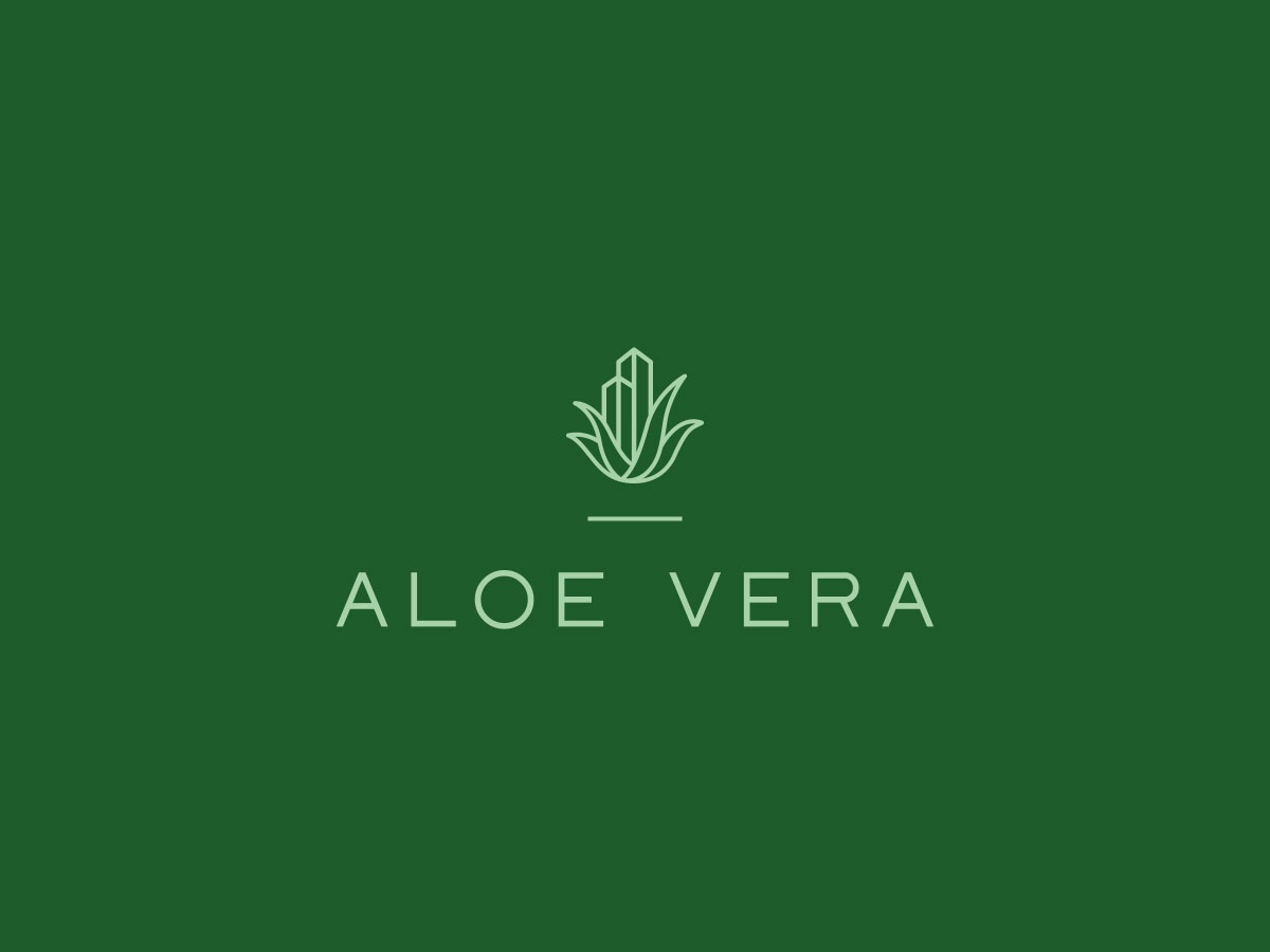 Aloe Vera / Logo Design soundness welfare wellness health developer building construction vera aloe letter logotype logo design logo icon brand