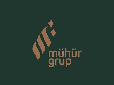 Mühür Grup / Logo Design developer building construction gold green establishment concern organization firm corporation enterprise corporate company m logotype logo design logo icon