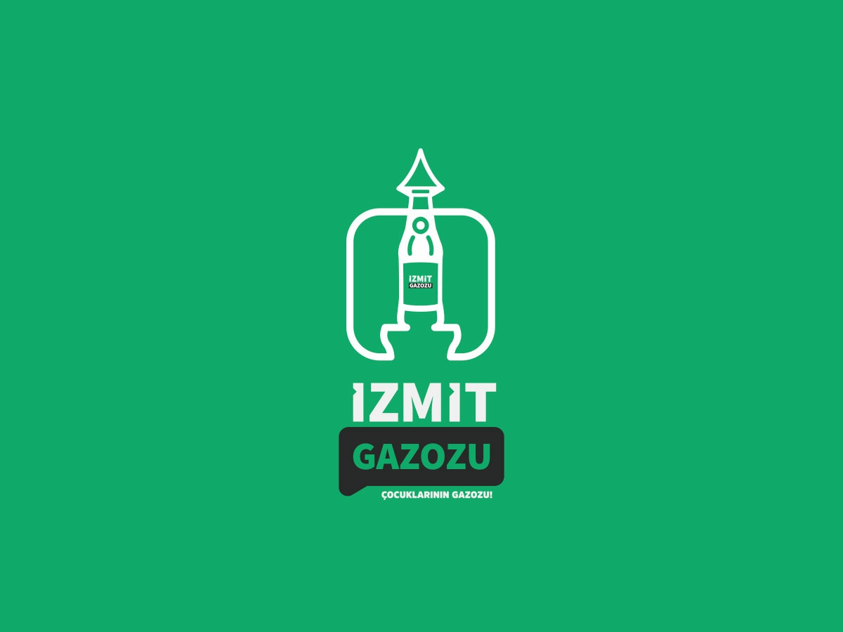 İzmit Gazozu / Logo Design potable refreshment beverage drink ale ginger ale soda clock tower logotype logo design logo icon brand